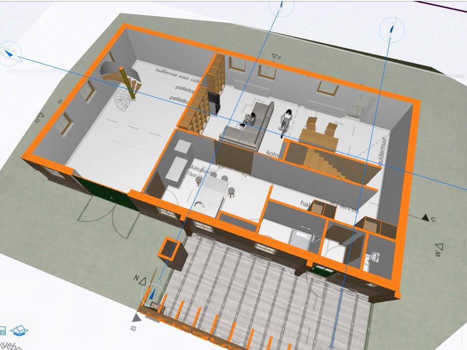 werkwijze architect 3D plattegrond  rijksmonument