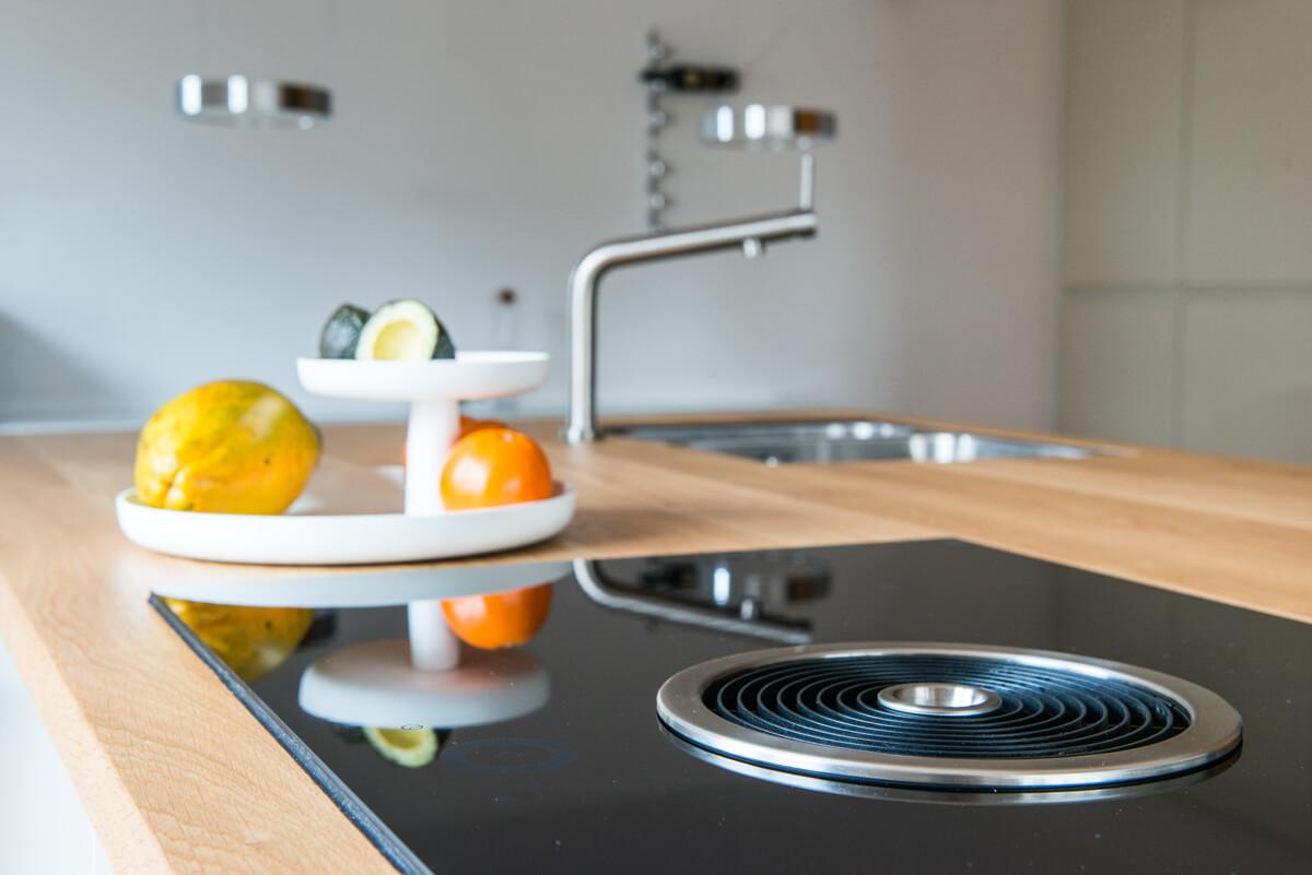Bora kookplaat, afzuiging naar onder, in een ikea-keuken