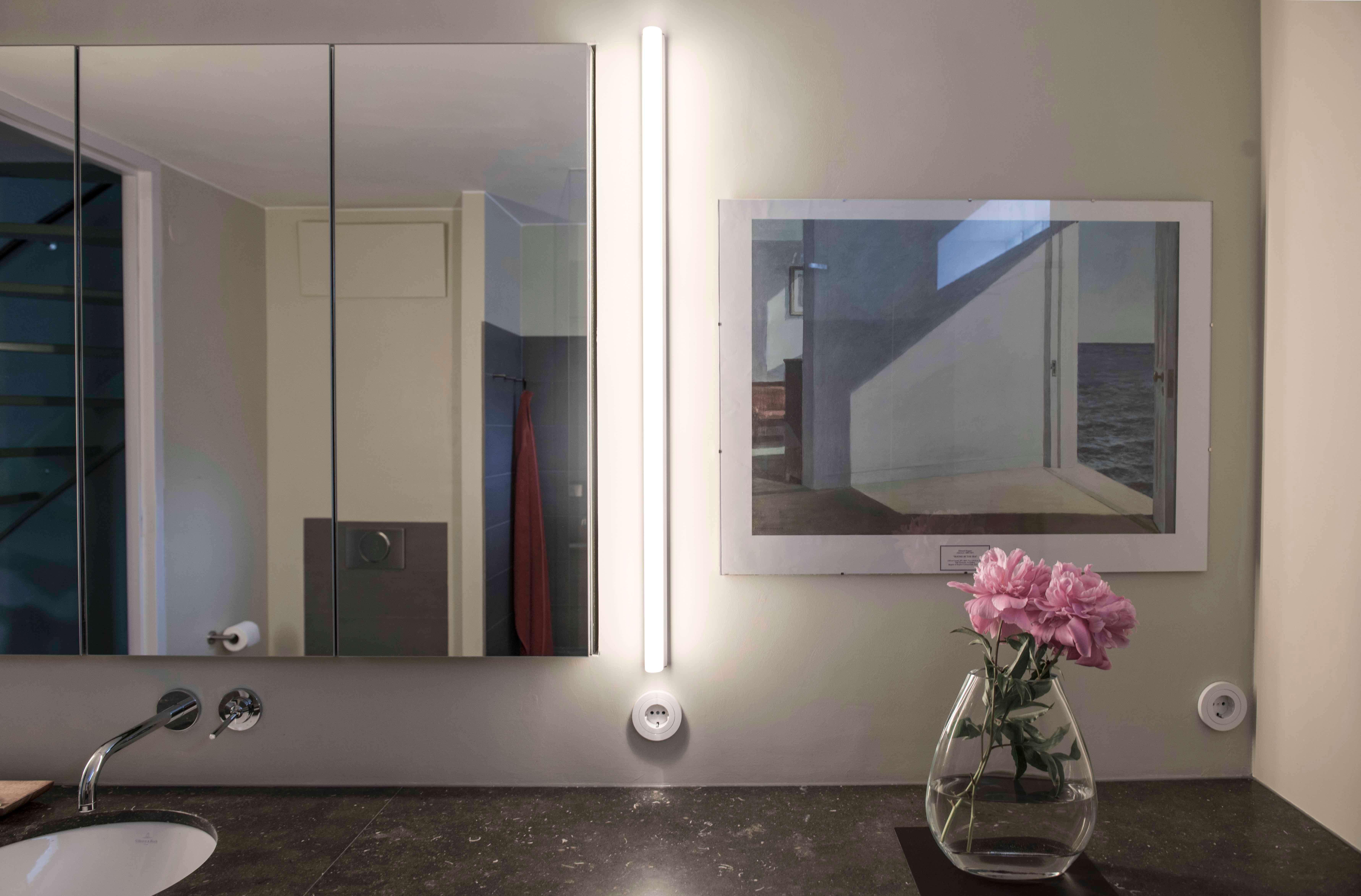 Badkamer - Verlichting naast de spiegel