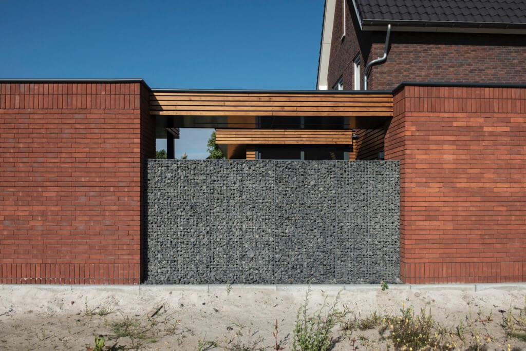 Verbouwing van een nieuw huis bijgebouwen en schutting