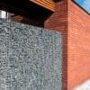 schanskorf, luifel en bakstenen muur