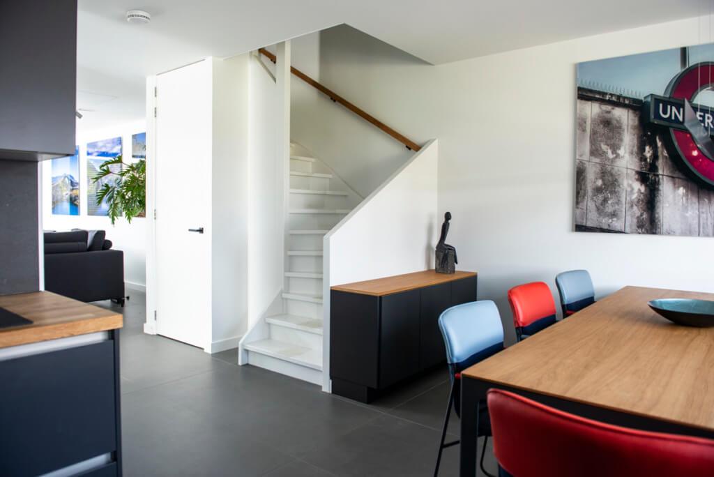 Verbouwing van een nieuw huis trap