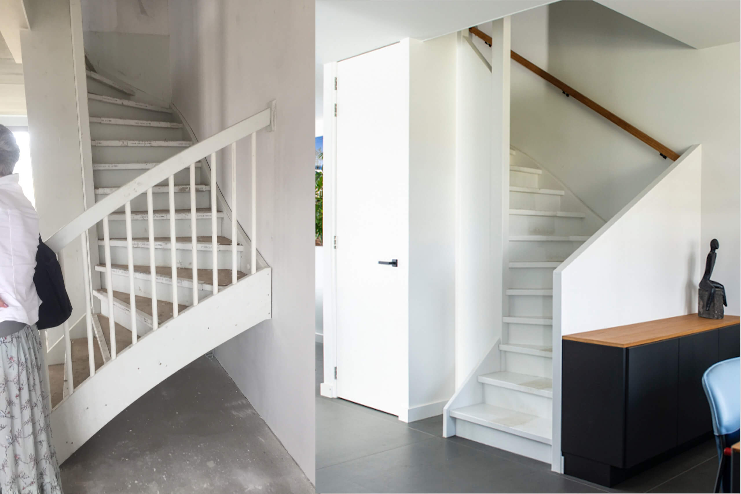 de trap voor en na de verbouwing