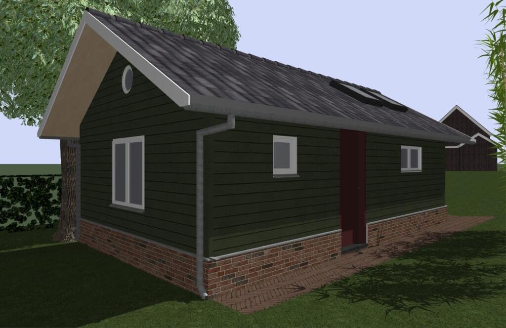 nieuwbouw vakantiehuis gasloos architect - achtergevel