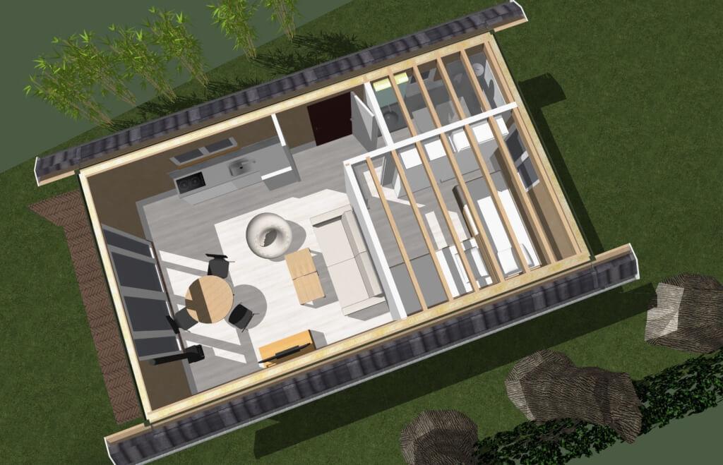 nieuwbouw logeerhuis all electric architect - plattegrond