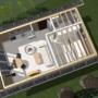 B1architectuur logeerhuis – 3D plattegrond